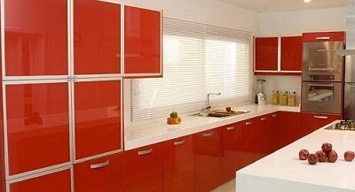 Muebles de cocina modernos melamina laqueados madera for Muebles laqueados