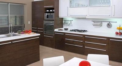 Muebles de cocina modernos melamina laqueados madera for Modelos de cocinas de madera modernas